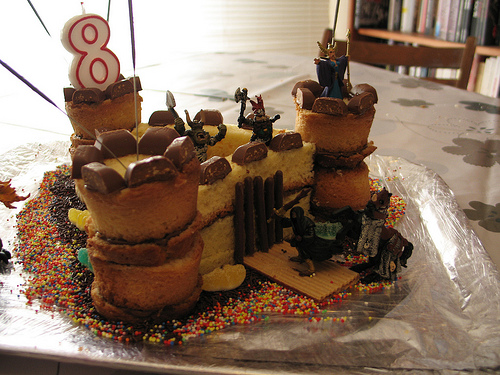 Easy Birthday Cake Castle